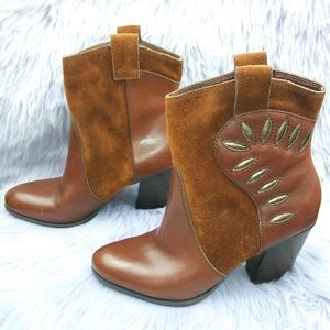Naturalizer Ember Suede Leather Ankle Boots